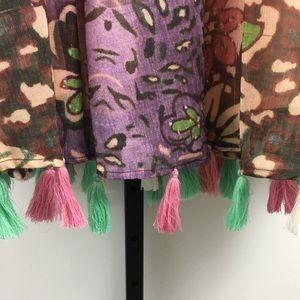 J Peterman Chiffon Tassel Hem Skirt 10 Purple for sale